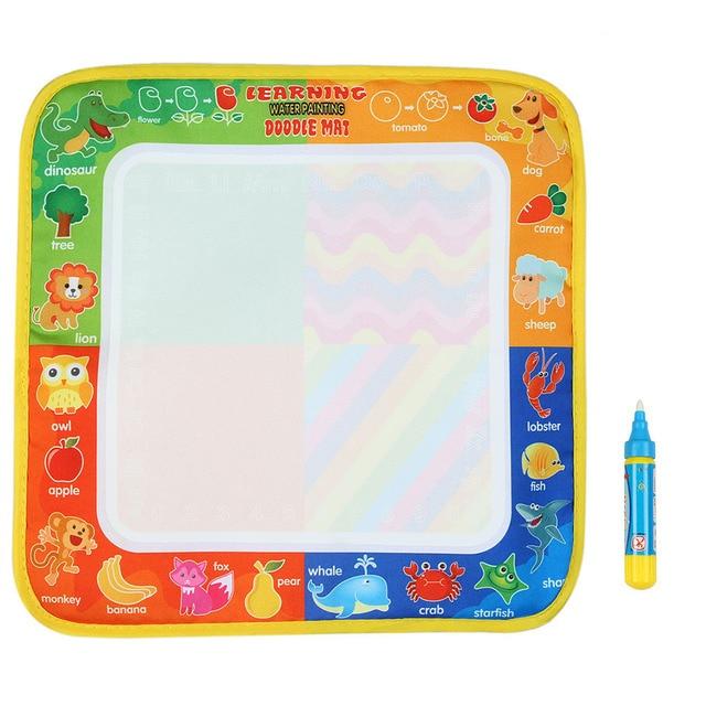 Nuevo dibujo juguetes dibujo de agua 29*30 CM Junta pintura y escritura Doodle con Magic Pen no tóxico tablero de dibujo para niños pizarra agua pizarra magica