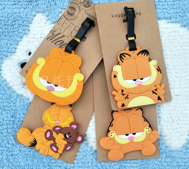Yellow Cat Anime Travel Accessories Luggage Tag Suitcase ID Address Portable Tags Holder Baggage Label New