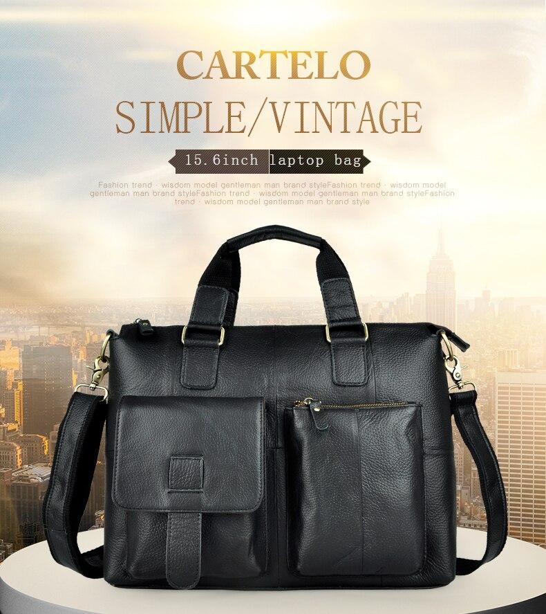 "HTB14KI7aRLN8KJjSZFpq6zZaVXaA Men Genuine Leather Office Maletas Business Briefcase 15.6"" Laptop Case Attache Portfolio Bag Maletin Messenger Bag B260"