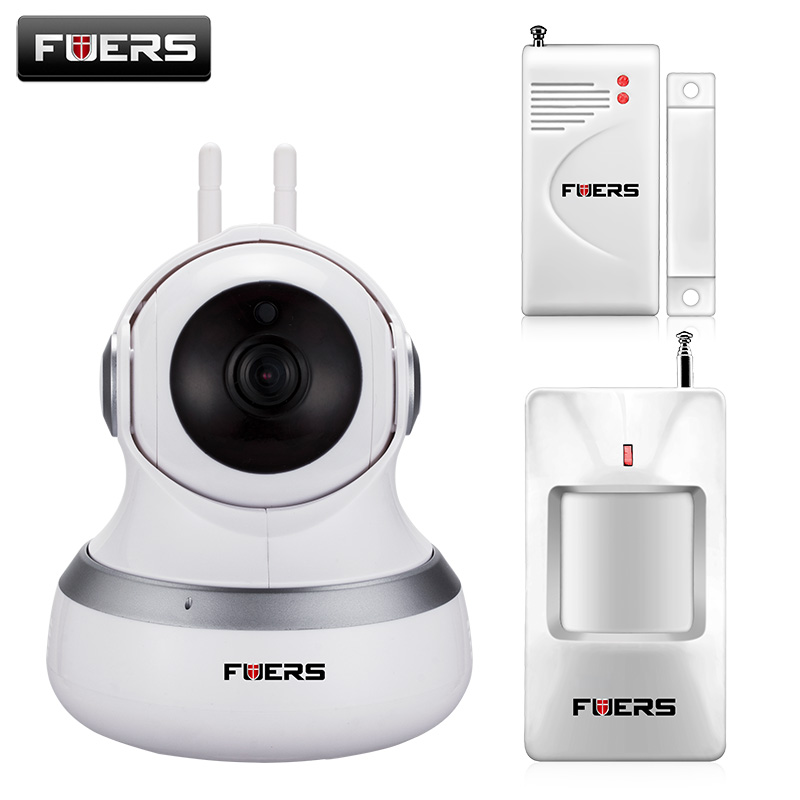 Newest Fuers Wireless WIFI IP Camera 720P HD Cloud Storage PIR Night Vision P2P Security Monitor Camera Surveillance Camera 720p hd wifi camera p2p wireless baby monitor security camera cloud storage night vision camera compatible with sensor detector