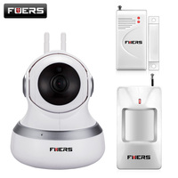 Newest Fuers Wireless WIFI IP Camera 720P HD Cloud Storage PIR Night Vision P2P Security Monitor