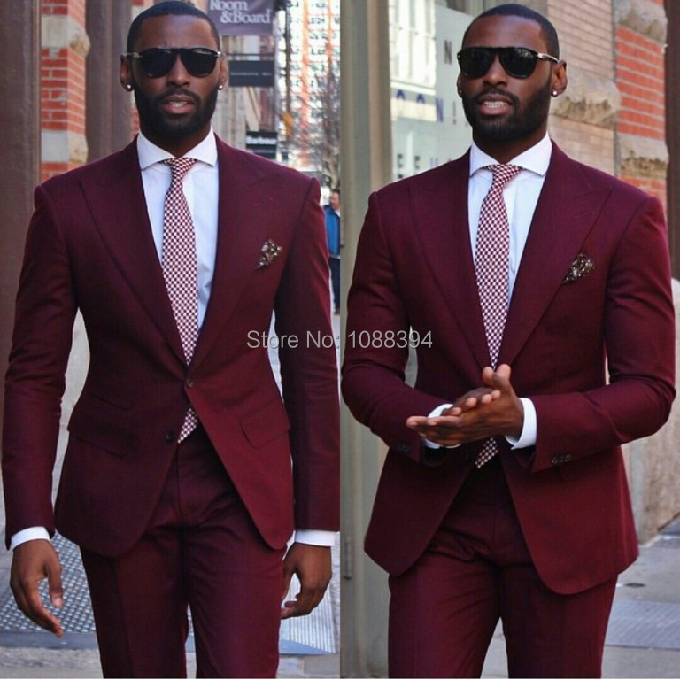 Popular Suits for Men Burgundy-Buy Cheap Suits for Men Burgundy ...