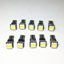 1 10pcs T5 LED Car Auto LED led smd 5050 Wedge LED Light Bulb Lamp painel de bordo Instrumento Branco vermelho Verde Azul Amarelo Para DC 12V