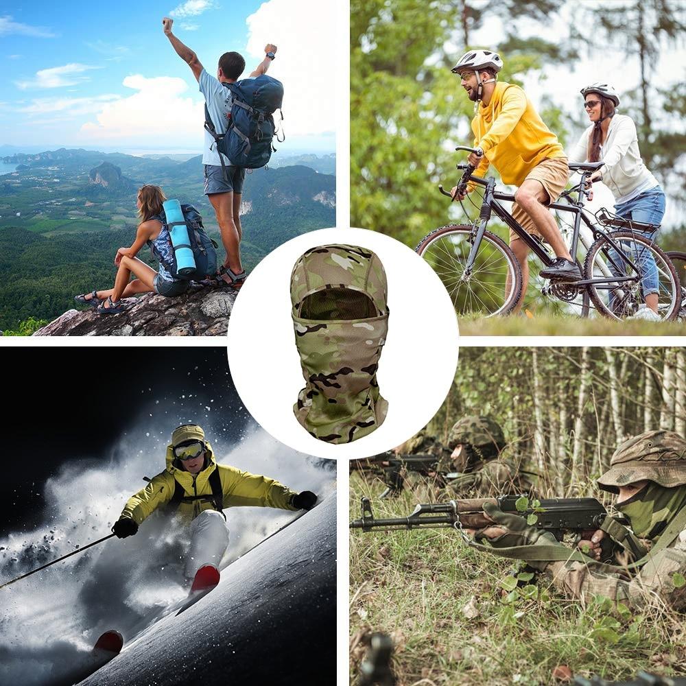 Outdoor Camo Ciclismo Balaclava Full Viso Maschera Della Bicicletta Ski Bike Snowboard Sport di Copertura Escursionismo Tattico Militare della Protezione Del Cappello Delle Donne Degli Uomini