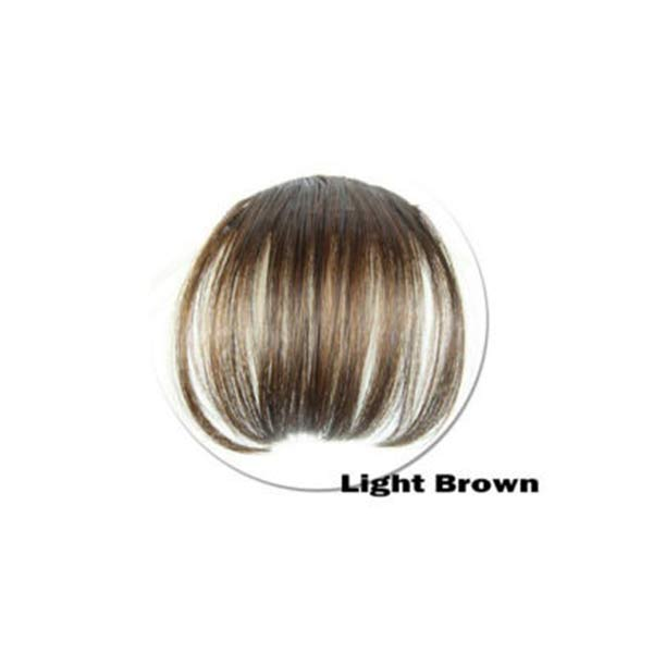 Hot Women Clip Bangs Hair Extension Fringe Hairpieces False Synthetic Hair Clips Front Neat Bang wyt77 2
