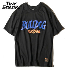 Bulldog Mens T Shirt with Letter Print