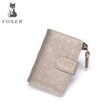 FOXER Brand New Women Leather Short Style Wallet Luxury Female Purse Girl Card holder & Wallets