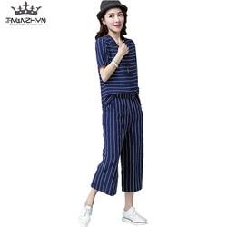Tnlnzhyn 2017 new summer women suit set 2 pieces set pant suit ladies short sleeved suit.jpg 250x250