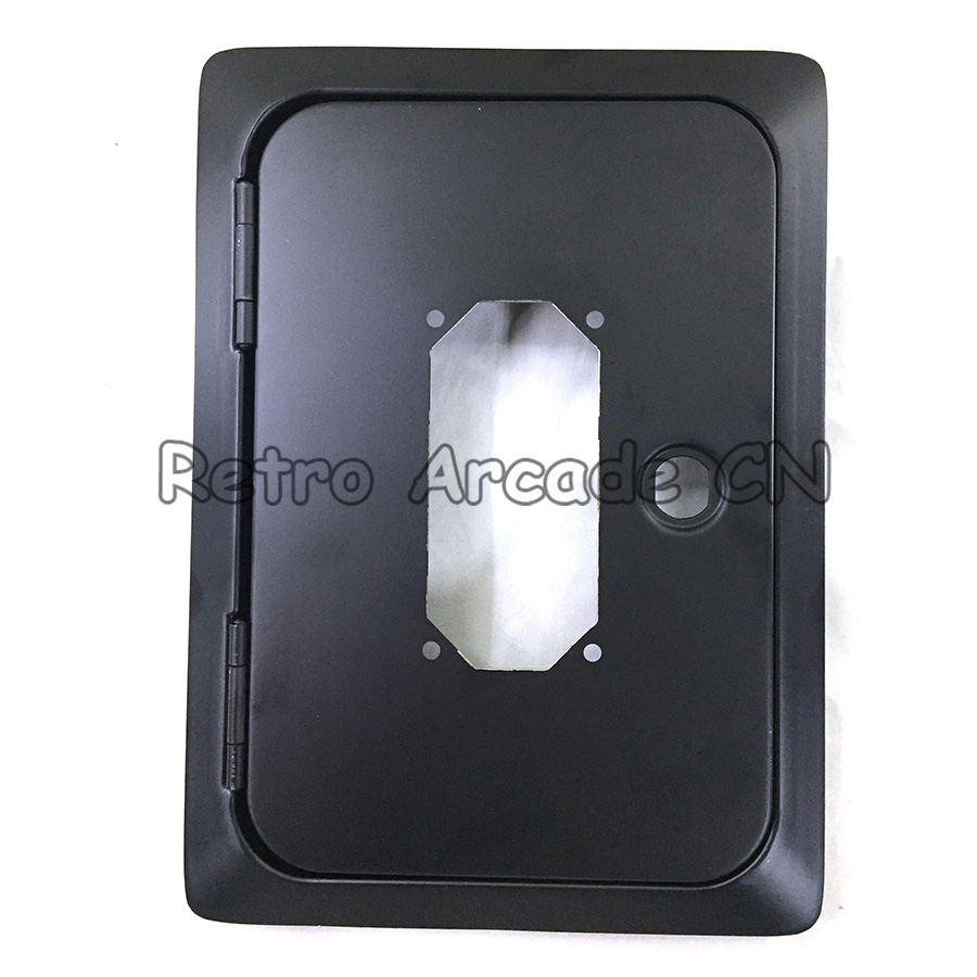 Good Quality Metal Coin door Black iron upper door with coin acceptor hole for Arcade game cabinet Coin operator game machine