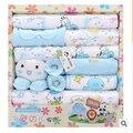 Бесплатная доставка! новый 2015 100% хлопок одежда для новорожденных детские наборы 18 шт. младенцы костюм новорожденных девочек мальчиков одежда