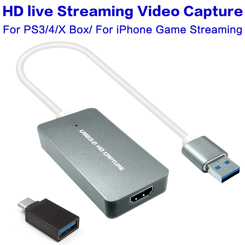 USB 3 0 1080P HDMI Video Capture Card Recording Game Live Video Streaming For PS3 PS4