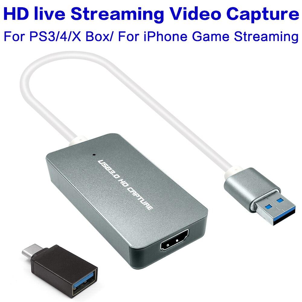USB 3.0 1080 p Hdmi ビデオキャプチャカード記録ゲームライブビデオのストリーミング PS3 PS4 XBOX ONE 会議 Windows MAC OBS スタジオ  グループ上の 家電製品 からの USB ケーブル の中 1