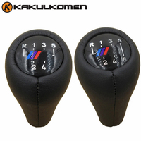 5 Speed 6 Speed Car Gear Shift Knob Real Leather M Color For BMW 1 3