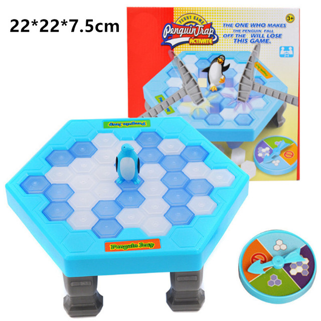 22*22cm Penguin Trap Interactive Indoor Board Game Ice Breaking Save Penguin Parent-child Table Entertainment Toys Kids Gifts!