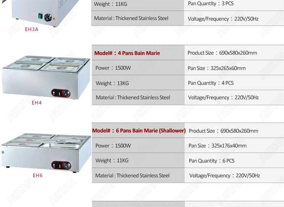 EH1A electric bain marie food warmer machine for hotel and restaurant 17