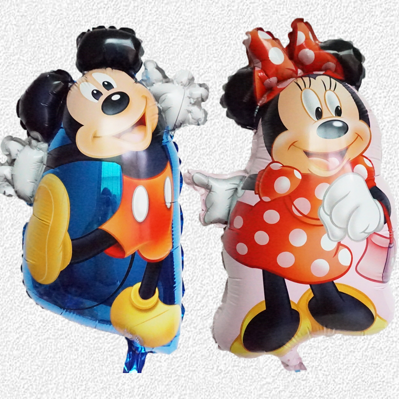 Free shipping 5pcs new aluminum balloons birthday party decoration wholesale childrens toys pattern Mickey Minnie balloons