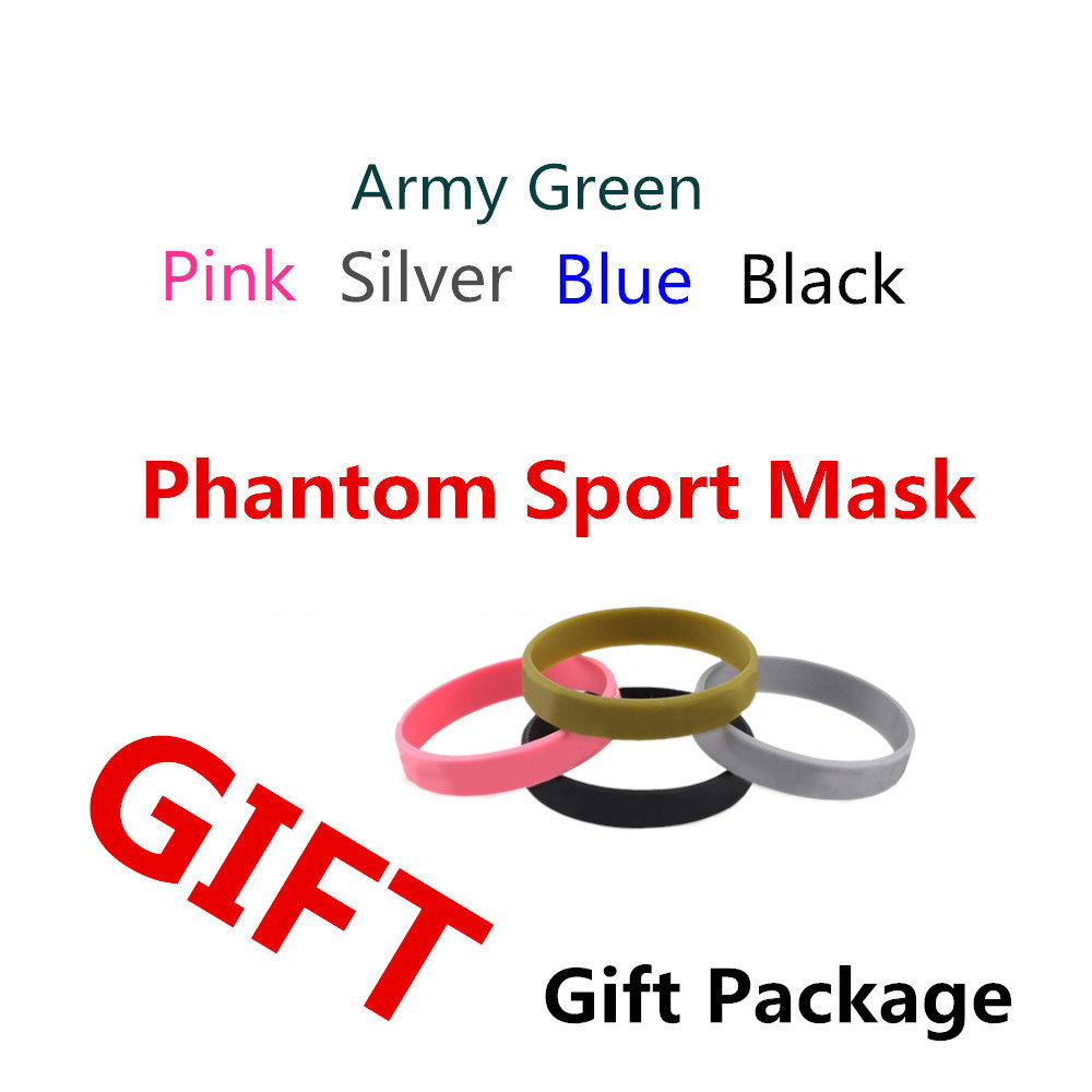 Good Quality Phantom Mask boxing Packing Style Sport Outdoor Mask gift packing training sport mask with bracelet Free Shipping phantom sport mask s m l sizes 5 different colors for choose training sport mask unisex use mask free shipping