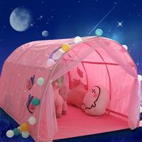 Summer Children Bed Tent Tunnel Tent with Mosquito Net Game House Baby Home Tent Boy Girl Safe House Tunnel Tents