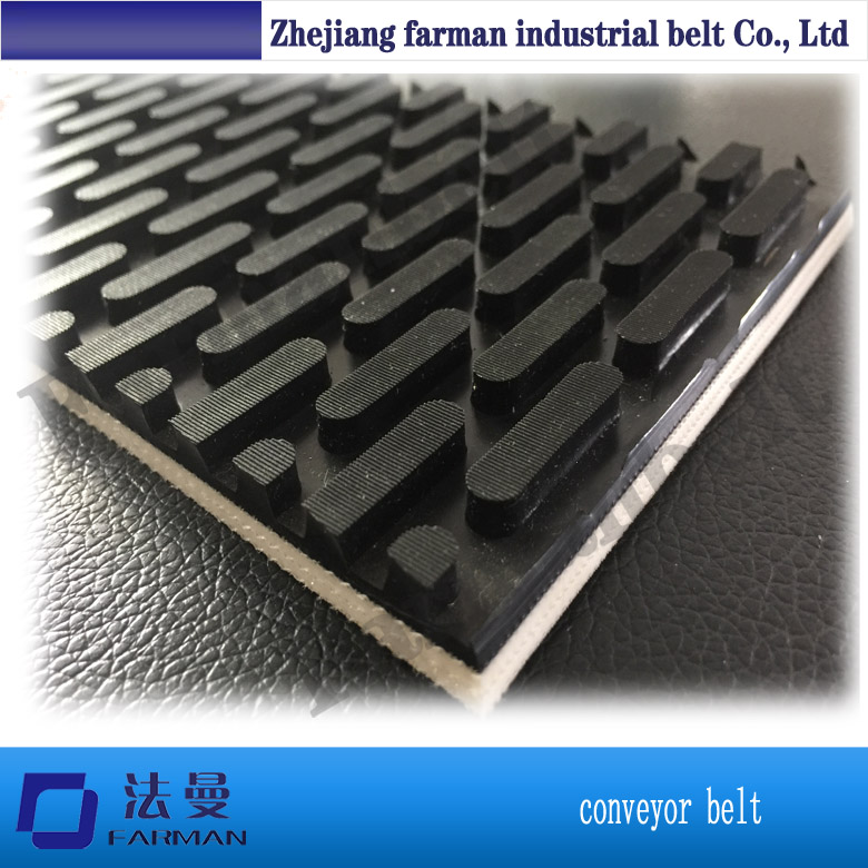 Ribbed conveyor belt PVC conveyor belt punching holes egg conveyor belt