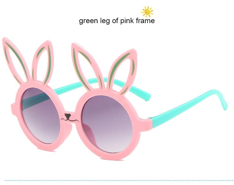 MINIMUM Cute rabbit shape Flexible Kids Sunglasses UV400 Eyewear Shades Infant Polarized Child Baby children Safety Sunglasses 7