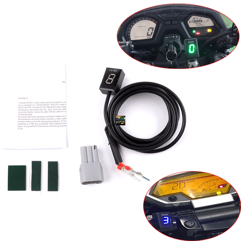 Ecu Plug Mount 6 Speed Gear Display Indicator 1-6 Level Gear Indicator For Suzuki <font><b>V</b></font>-<font><b>Strom</b></font> DL650 04-11 DL1000 04-13 <font><b>DL</b></font> 650 <font><b>1000</b></font> image