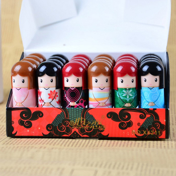 24pcs/48pcs Cartoon Doll Moisturizing Lip Balm Lovely Nutritious Lip Balm Party Wedding Gifts Colorful Kawaii For Girl Chlidren
