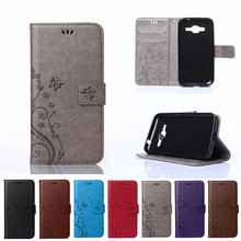 Case For Samsung Galaxy Core Prime G360 G361 SM-G360F SM-G361F SM-G360H SM-G361H SM-G360P G3606 Orchid Leather Flip Phone Cover