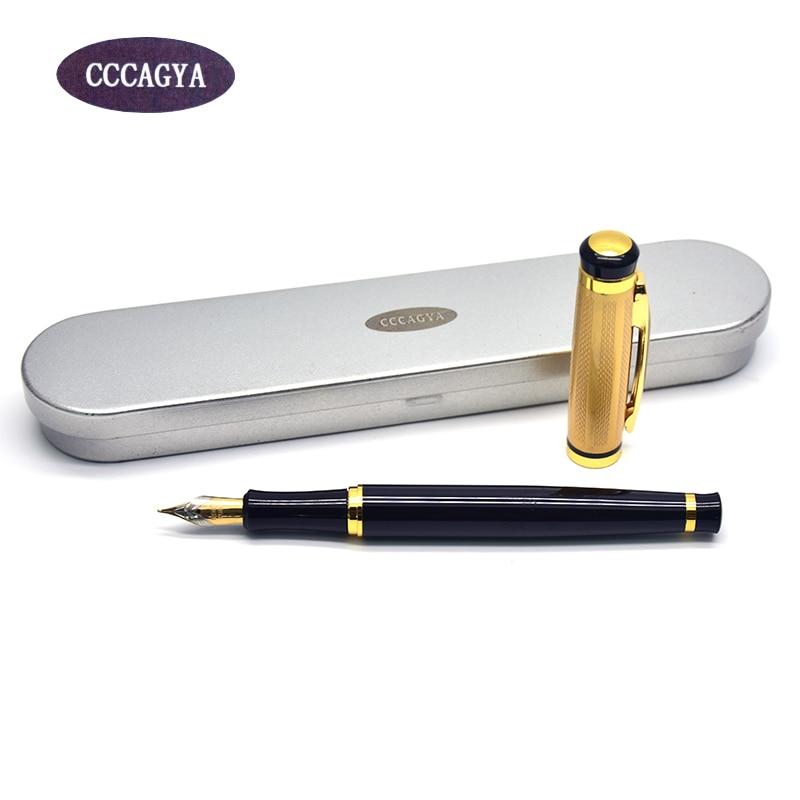 CCCAGYA Q10 Nalivpera za školsko dopisništvo Uredsko učenje pakiranje Poklon kutija Metalna olovka za olovku Klasična olovka s tintom od 0,5 mm