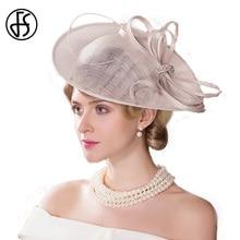 Summer Elegant Linen Hat For Women Beige Large Brim Fedora With Bowknot Decoration Kentury Derby Hats цена