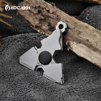 EDC Gear 420 de acero inoxidable Multi Herramienta de bolsillo al aire libre Kit de supervivencia para acampada llave abridor herramienta portátil destornillador llavero|key key|key keychain|key survive -