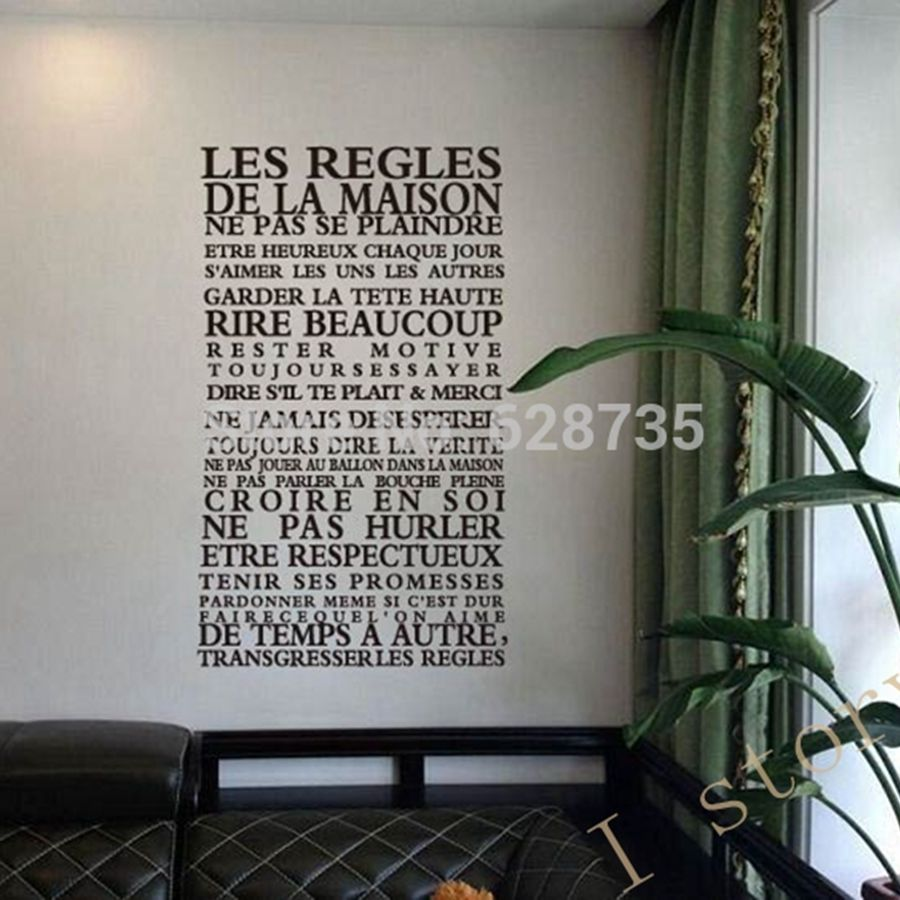 Diy Living Room Removable Vinyl Quote Wall Decals Home Decoration