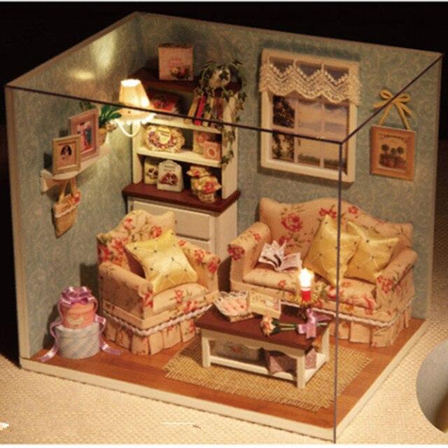 3D головоломки деревянные модели дома девушки сладкий жилищного строительства устанавливает девушка educatioantoys, Главная украсить подарок