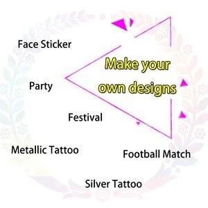 Image 2 - glaryyears Custom Tattoo Personalized Temporary Tattoo Sticker Waterproof Make Your Own Design