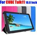 Para cube discussão 11 luxo virar capa pu de couro para cube talk11 10.6 polegada case tablet pc stand case tl11