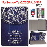 Tab 2 A10 30 Colorful Print 10 1 Inch PU Leather Case Cover Slim Print For