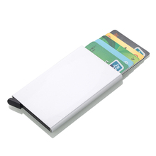 Wholesale New Credit Card Holder Automatically Business Aluminum Alloy Men Wallet RFID Anti-theft Box