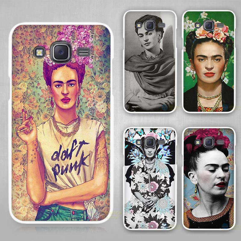 Frida Kahlo Hard White Plastic Case Cover for Samsung Galaxy J1 J2 J3 J5 J7 C5 C7 E5 E7 2016 2017 Emerge