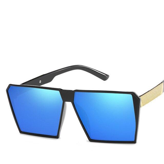 Square Oversized Sunglasses New Reflective Sunglasses Men Women Designer Luxury Fashion Lady Gafas Sun Glasses Oculos de sol in Men 39 s Sunglasses from Apparel Accessories