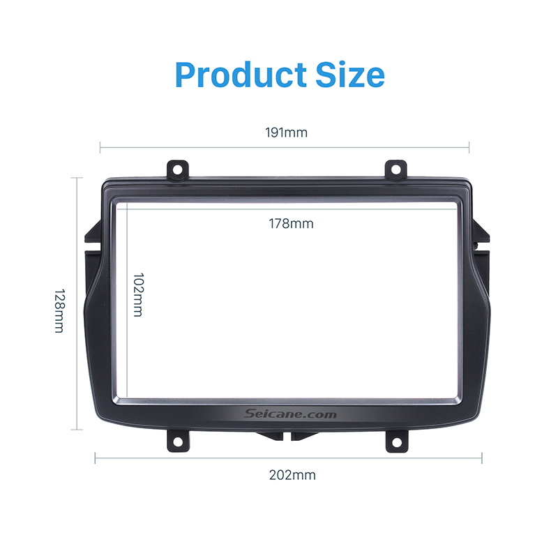 Seicane 2din Car Radio Fascia Panel kit for 2016 Daewoo Royale Russian/LADA Vesta Refitting Mounted Installation Trim Bezel Kit