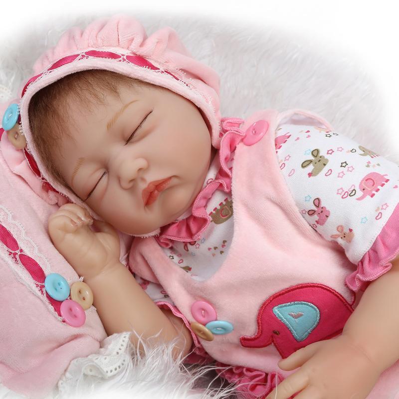 55 cm Silicone Reborn Baby Dolls Bébé En Vie Réaliste Boneca Bebe Réaliste Vraie Fille Poupée lol d'origine Reborn D'anniversaire De Noël