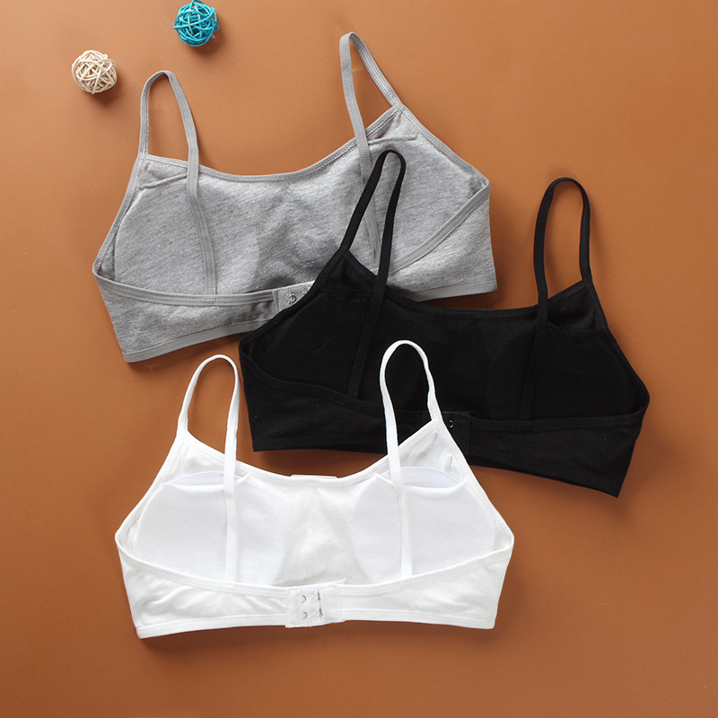 Cotton Kids Bras Teenage Underwear Training Bras For Kids Girls Children Puberty Young Small Bra For Teens