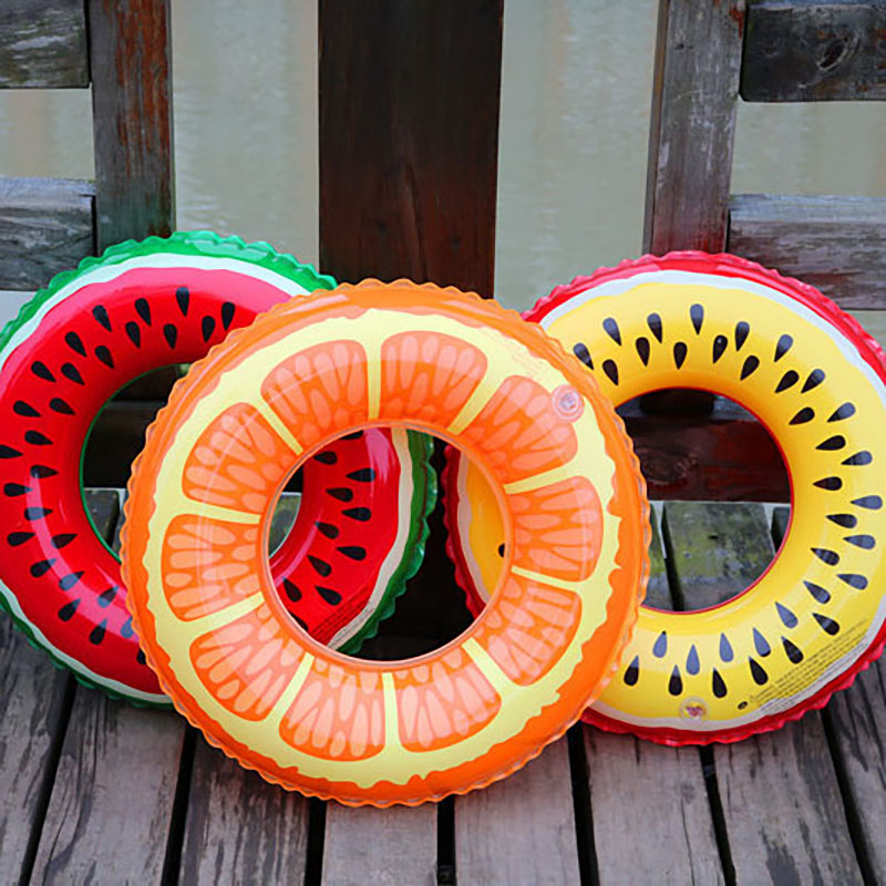 Hot Watermelon Lemon Style Kids Adult Swimming Rings Inflatable Fruit PVC Pool Float Swimming Party Circle for Children SR05 circle