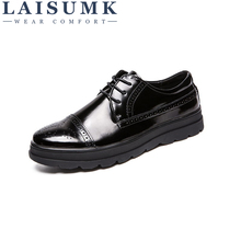LAISUMK Business Men Casual Shoes Handmade Breathable Comfortable Brand Men Shoes Genuine Leather Flat Men Oxfords Formal Shoes djsunnymix retro handmade martin shoes men 2018 new arrival casual genuine leather oxfords shoes soft comfortable