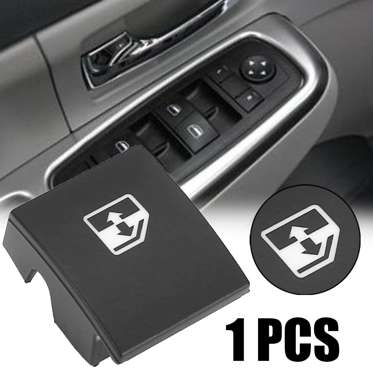 1pc Black Plastic Window Switch Button Cover 13228881 6240452 Replacement For VAUXHALL OPEL ASTRA MK5 H ZAFIRA/TIGRA B-in Car Switches & Relays from Automobiles & Motorcycles