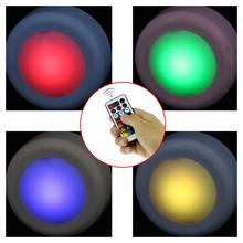 6 Pcs RGB 13Colors Wireless LED Puck Lights LED Under Cabinet Light with Remote Control, Battery Powered Dimmable Touch Sensor new dhl 50 pcs rechargeable lithium battery operated multicolors rgb led under table light with remote controller