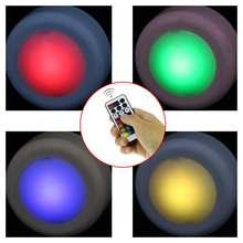 6 шт rgb 13 цветов беспроводной светодиодный светильник шайбы