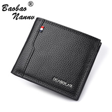 Business Card Holder For Men Wallet Male Purse Cuzdan Small Money Bag Top Qualit