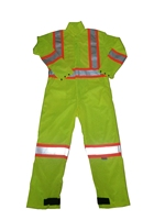 Fluorescence Yellow High Visibility Safety Workwear Hi Viz Work Coat Coverall Workwear Coveralls Suits
