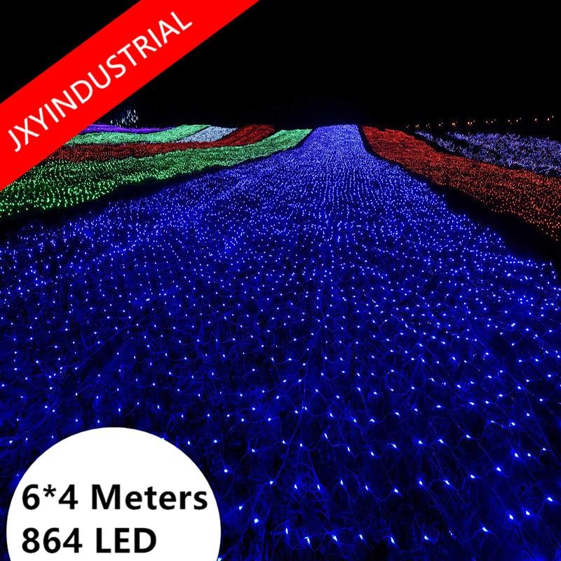 LED Net Light Christmas 4M x 6M 864 LED Xmas Fairy Lights for Home Garden Party Wedding decora bestdvr 805 light net в москве