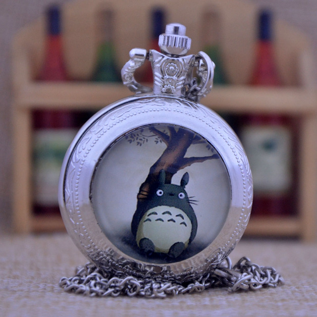 Totoro Quartz Pocket Watch Necklace